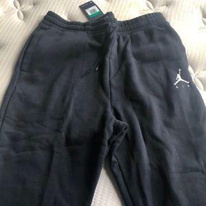 NWT Air Jordan sweatpants. Drawstring. Pockets.